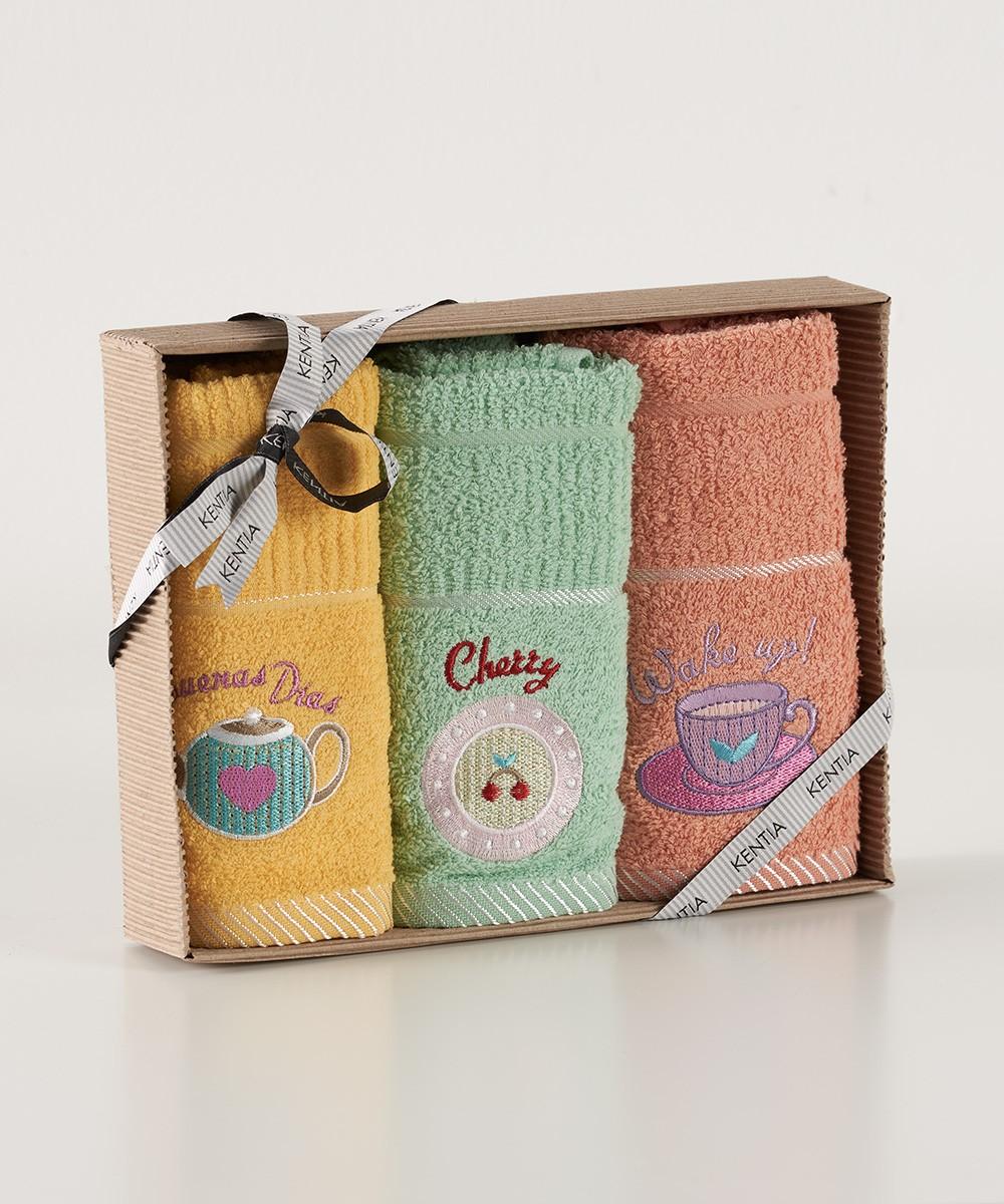 Πετσέτες Κουζίνας (Σετ 3τμχ) Kentia Kitchen Regalo 151