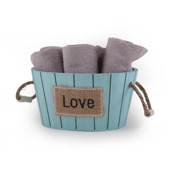 Πετσέτες Δώρου (Σετ 5τμχ) Nef-Nef Love Grey