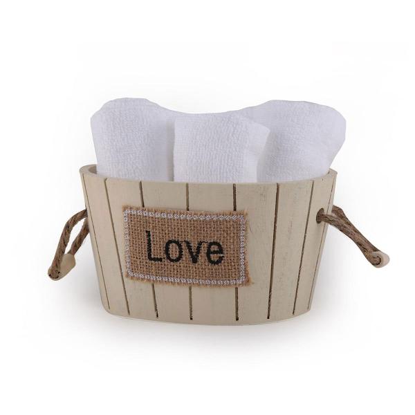 Πετσέτες Δώρου (Σετ 5τμχ) Nef-Nef Love White