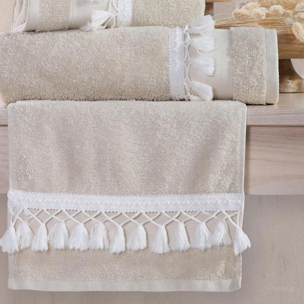 Πετσέτες Μπάνιου (Σετ 3τμχ) Nef-Nef Isolin Natural