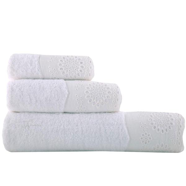 Πετσέτες Μπάνιου (Σετ 3τμχ) Nef-Nef Teresa White