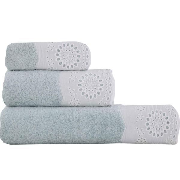 Πετσέτες Μπάνιου (Σετ 3τμχ) Nef-Nef Teresa Aqua