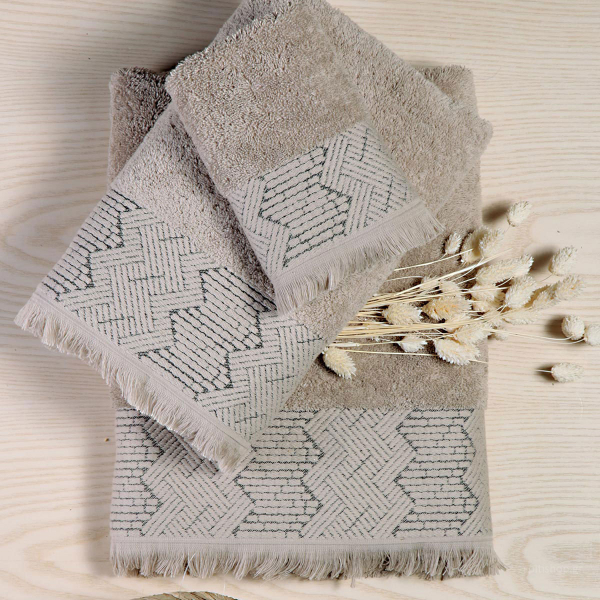 Πετσέτες Μπάνιου (Σετ 3τμχ) Nef-Nef Sylvester Mocca