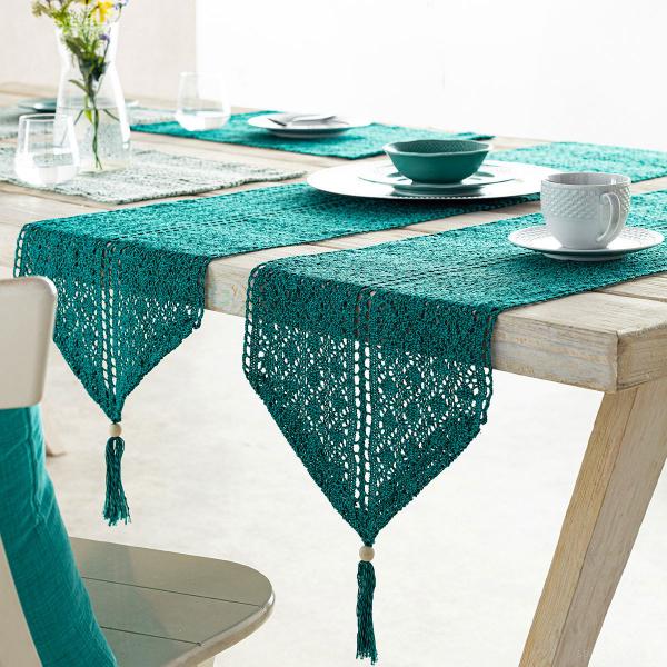 Τραβέρσα Gofis Home Crochet Petrol 019/18