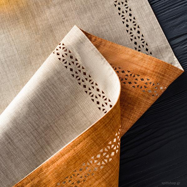 Τραβέρσα 2 Όψεων Gofis Home Artisan Linen/Tan 930/06