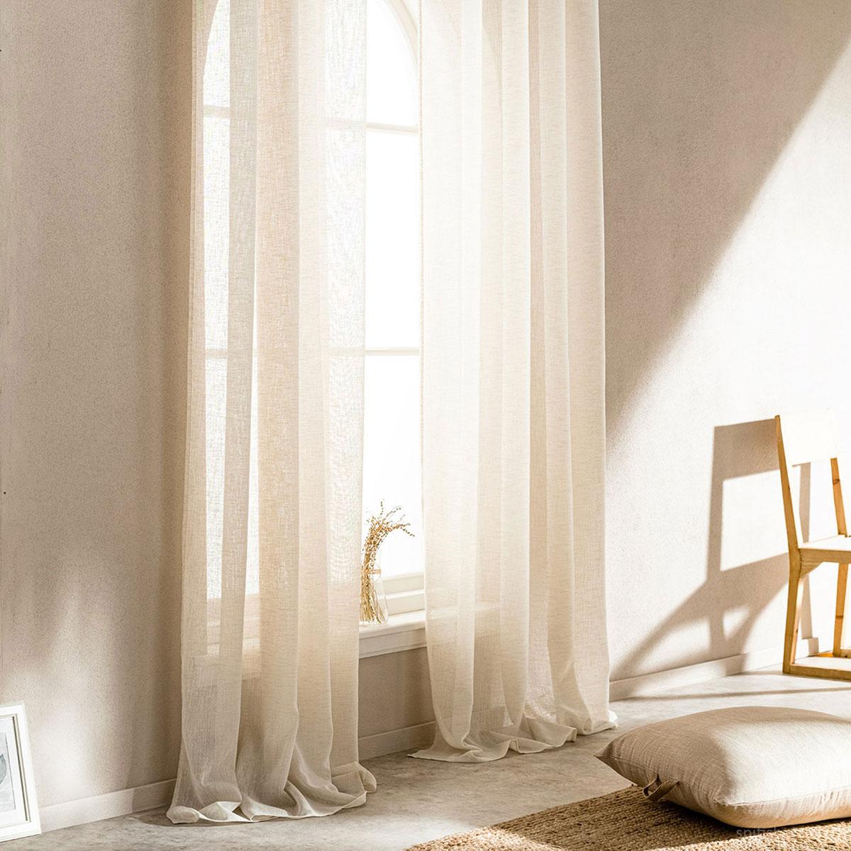 Κουρτίνα (140×280) Με Τρουκς Gofis Home Combe Linen 502/06