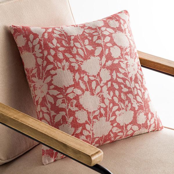 Διακοσμητική Μαξιλαροθήκη (50x50) Gofis Home Rosefield Red 201/02