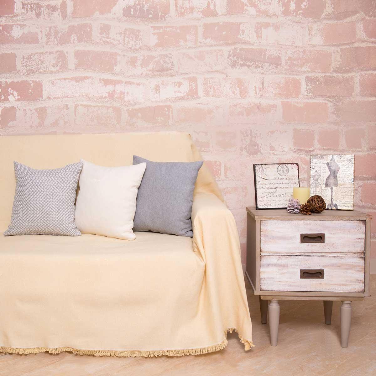 Ριχτάρι Πολυθρόνας (180×180) Loom To Room Regalo Yellow