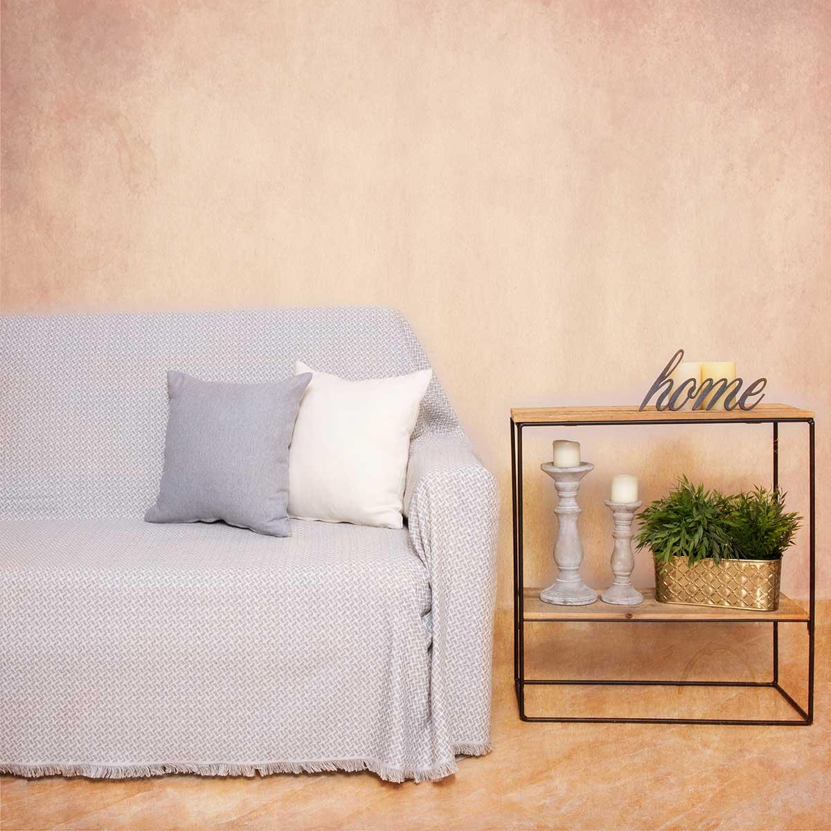 Ριχτάρι Πολυθρόνας (180×180) Loom To Room Dimi Light Grey