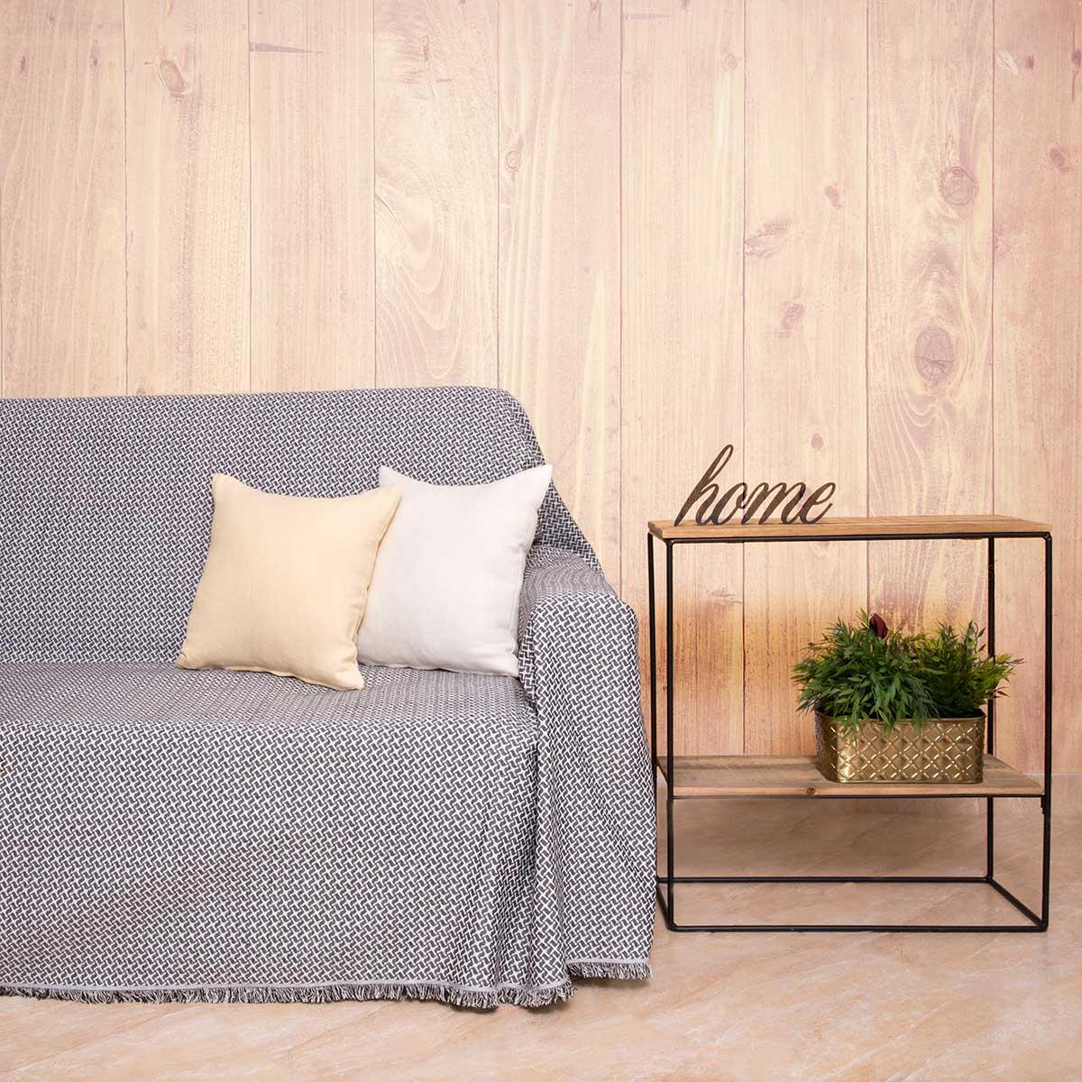 Ριχτάρι Πολυθρόνας (180x180) Loom To Room Dimi Black/White