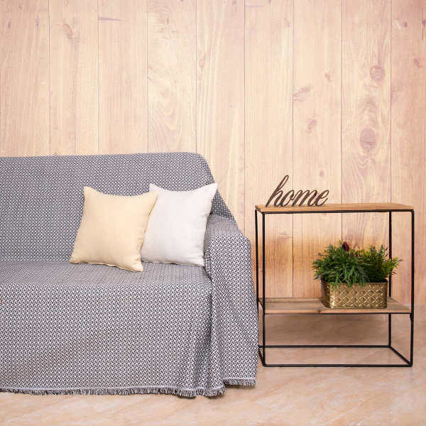 Ριχτάρι Τριθέσιου (180x300) Loom To Room Dimi Black/White