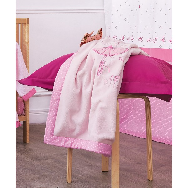 Κουβέρτα Fleece Κούνιας Kentia Ballet