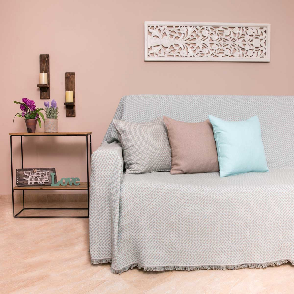 Ριχτάρι Πολυθρόνας (180x180) Loom To Room Dimi Mint