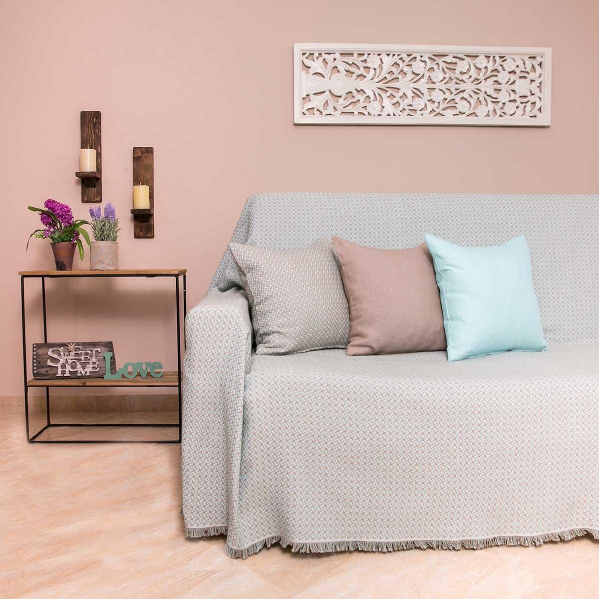 Ριχτάρι Πολυθρόνας (180×180) Loom To Room Dimi Mint
