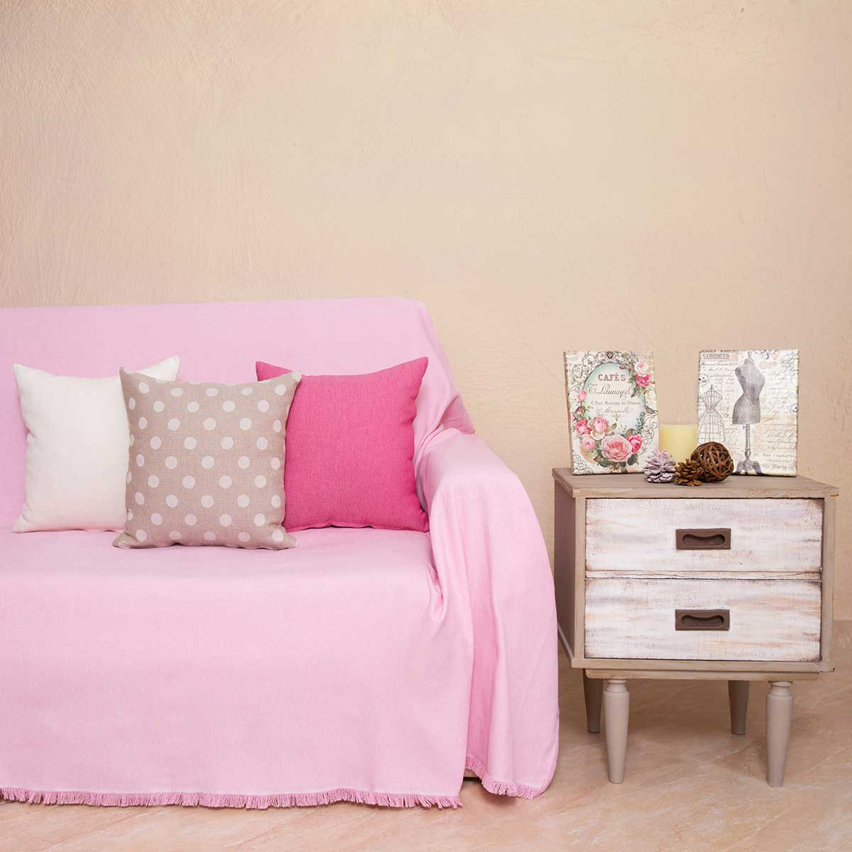 Ριχτάρι Πολυθρόνας (180×180) Loom To Room Regalo Pink