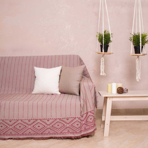 Ριχτάρι Πολυθρόνας (180x180) Loom To Room Alexandra Bordeaux