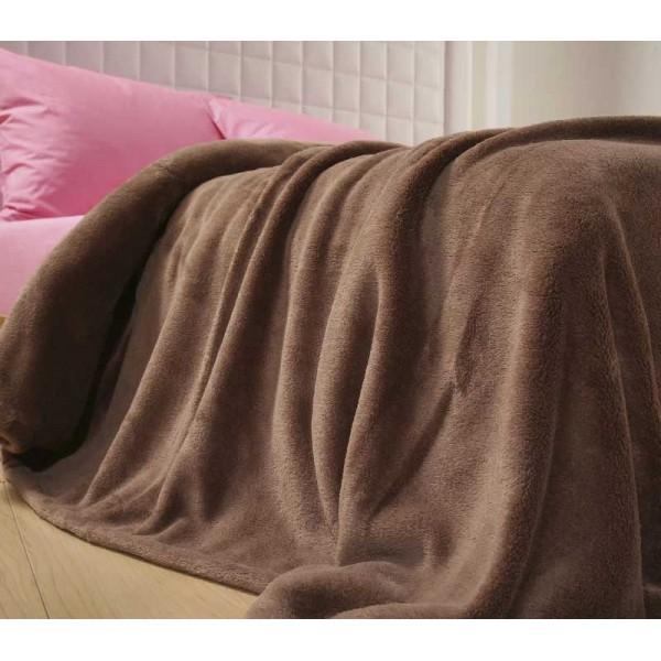Κουβέρτα Fleece Υπέρδιπλη Nef-Nef Planet L.Brown