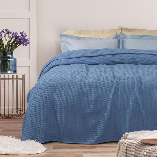 Κουβέρτα Πικέ Υπέρδιπλη Das Home Blanket 437 Blue