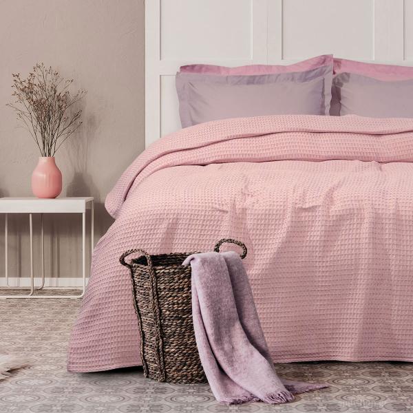 Κουβέρτα Πικέ Μονή Das Home Blanket 436 Pink