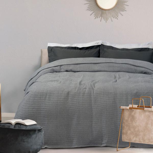 Κουβέρτα Πικέ Μονή Das Home Blanket 438 Grey