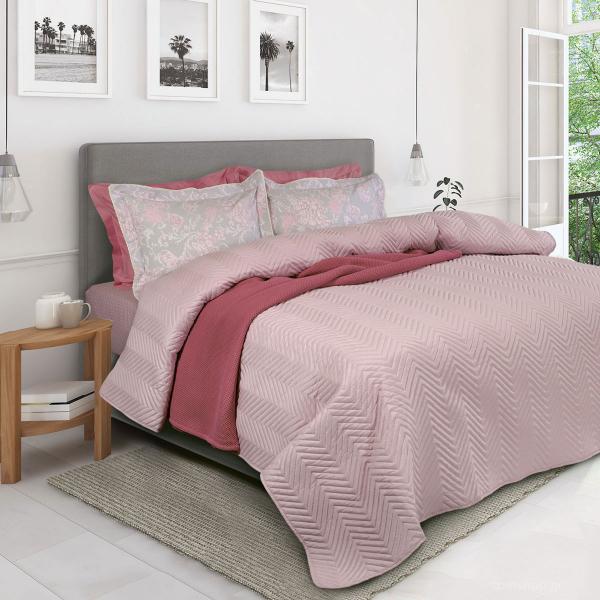 Κουβερλί Υπέρδιπλο Das Home Happy Micro 9479 Pink