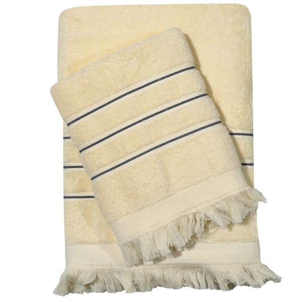 Πετσέτες Μπάνιου (Σετ 3τμχ) Das Home Best Line 415 Ecru