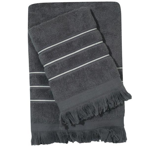 Πετσέτες Μπάνιου (Σετ 3τμχ) Das Home Best Line 419 D.Grey
