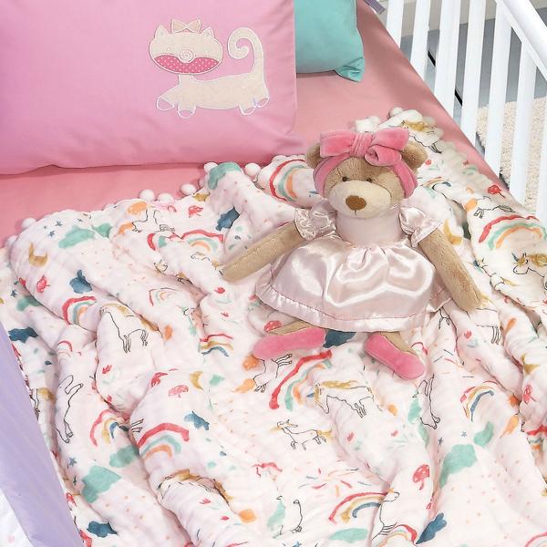 Κουβέρτα Μουσελίνα Αγκαλιάς Das Home 6587