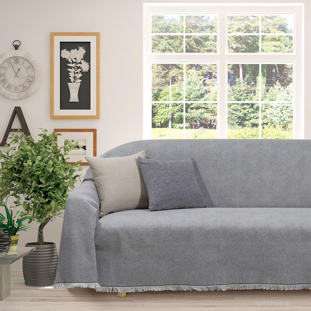 Ριχτάρι Τριθέσιου (180×300) Das Home Throws Line 0194 Grey
