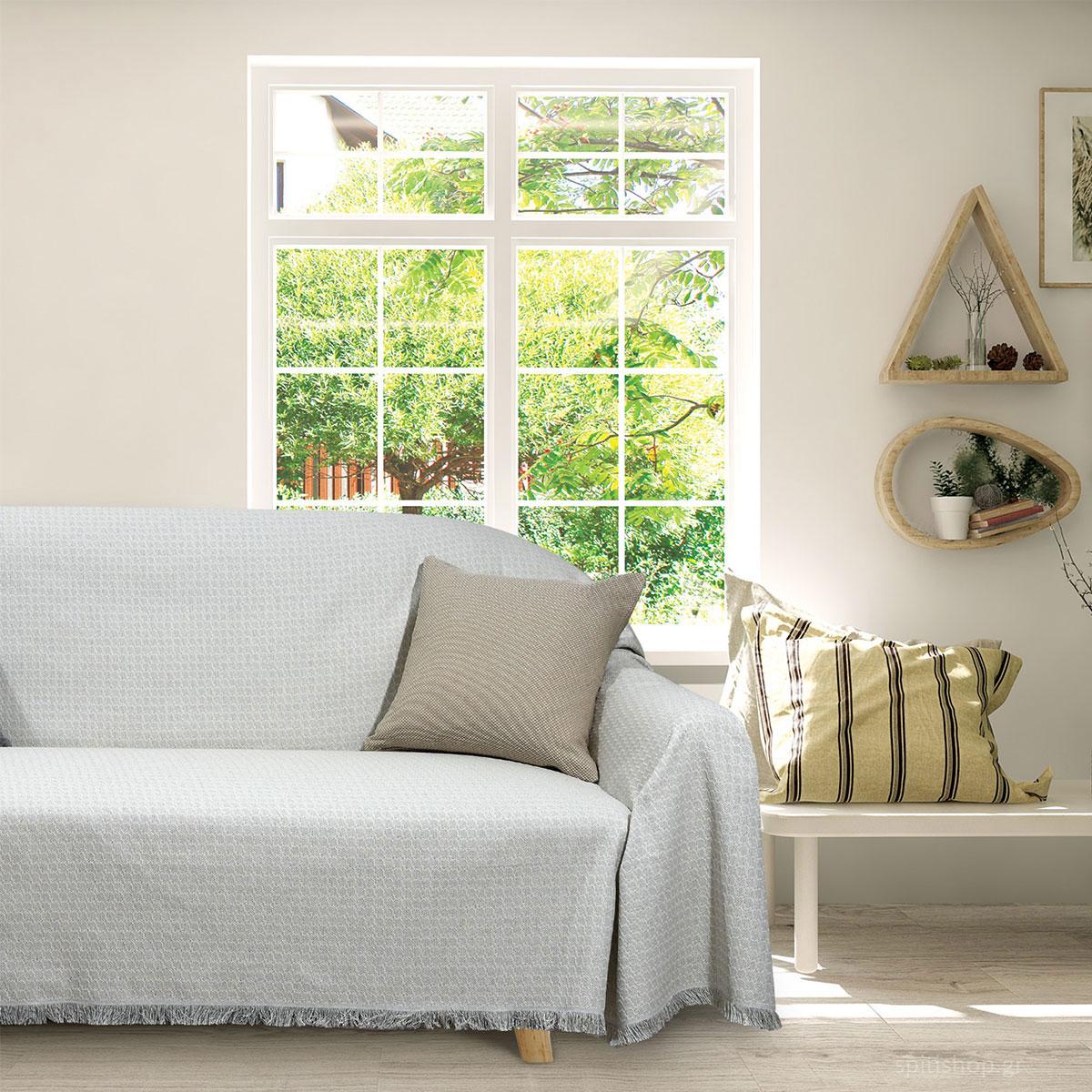 Ριχτάρι Τριθέσιου (180×300) Das Home Throws LIne 195 Grey