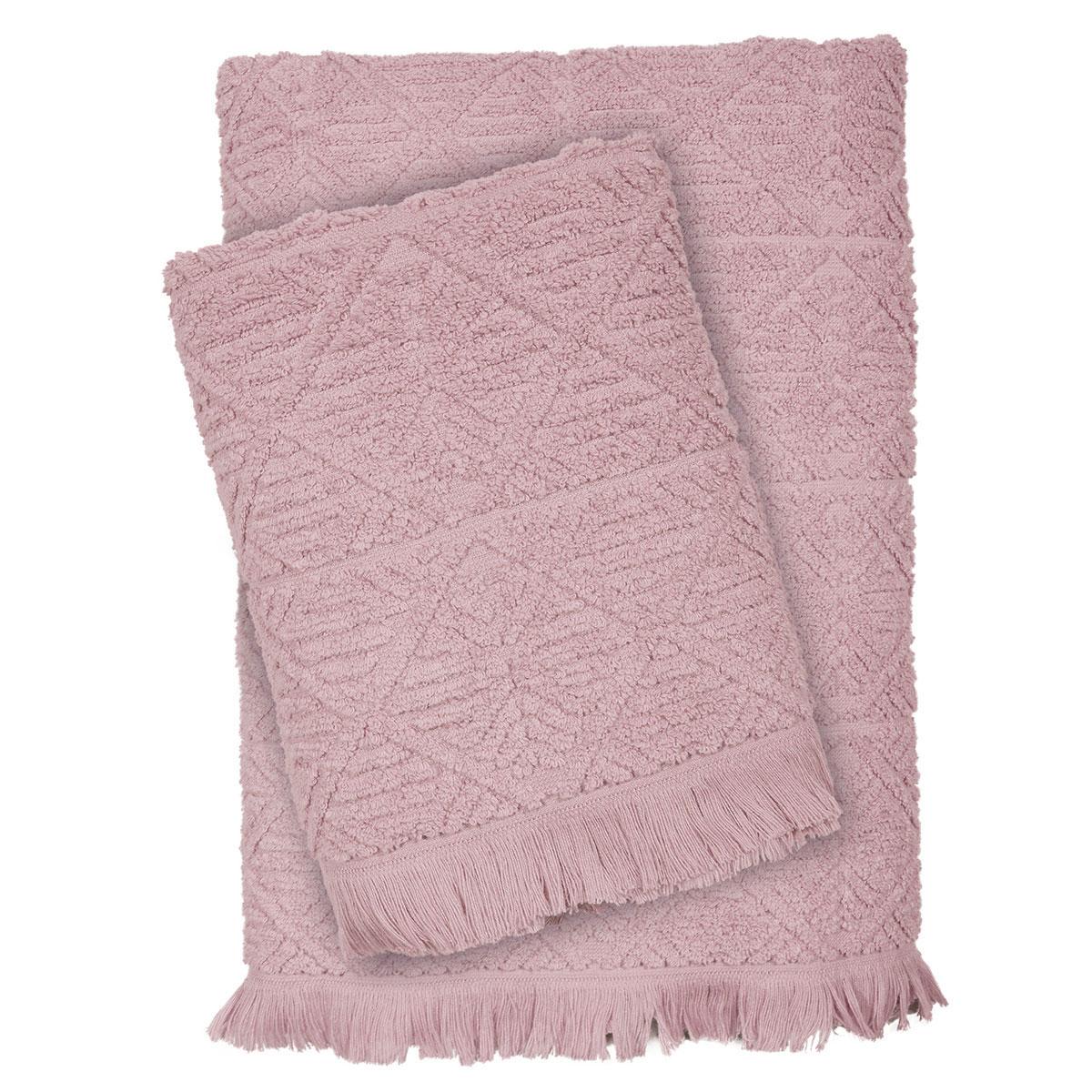 Πετσέτες Μπάνιου (Σετ 3τμχ) Das Home Happy Line 422 Pink