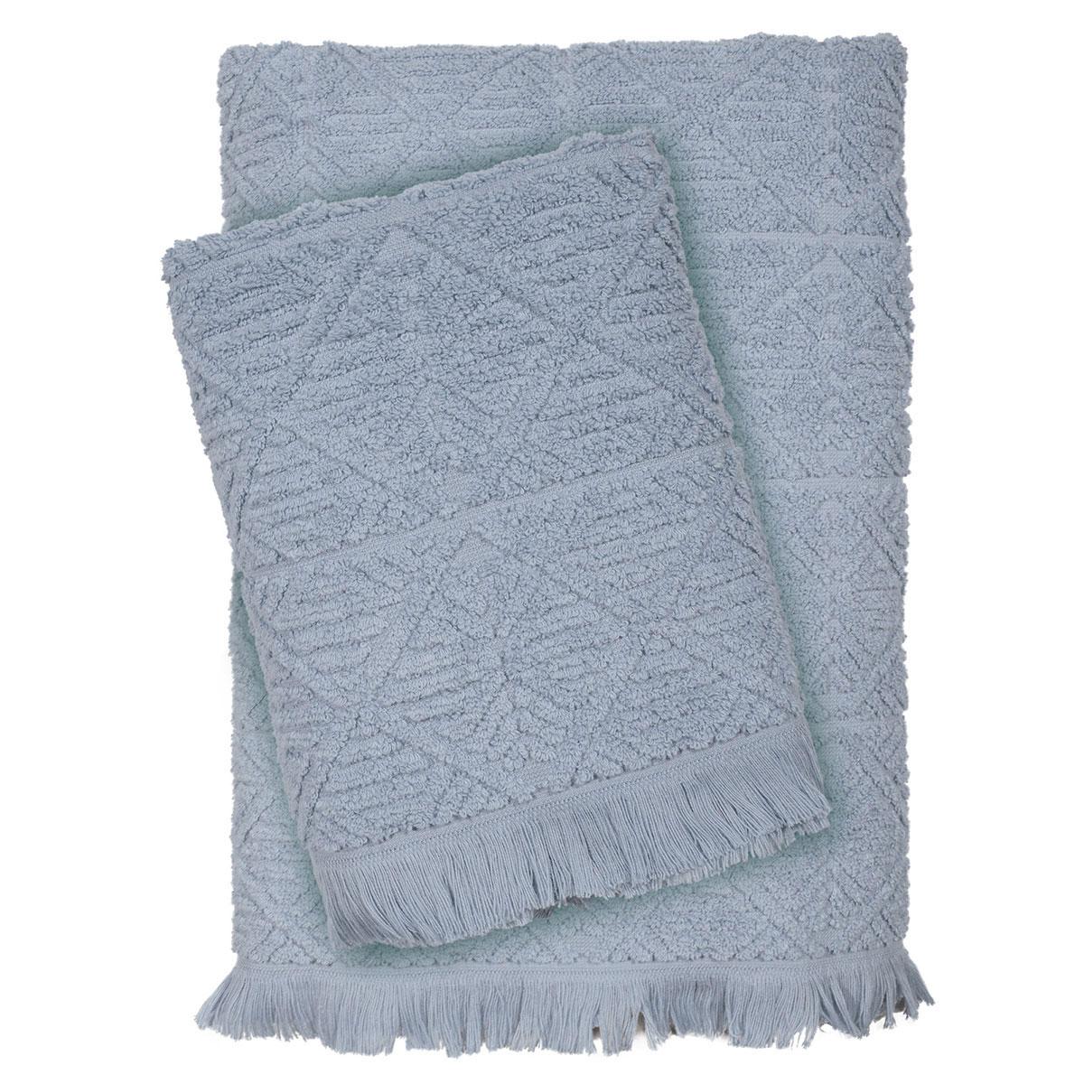 Πετσέτες Μπάνιου (Σετ 3τμχ) Das Home Happy Line 423 Grey