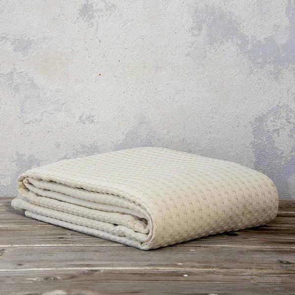Κουβέρτα Πικέ Μονή Nima Bed Linen Habit Sand Beige