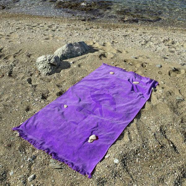 Πετσέτα Θαλάσσης Nima Beach Flamingo Mauve