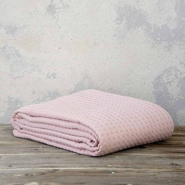 Κουβέρτα Πικέ Μονή Nima Bed Linen Habit Nude