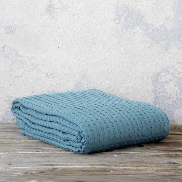 Κουβέρτα Πικέ Μονή Nima Bed Linen Habit Petrol