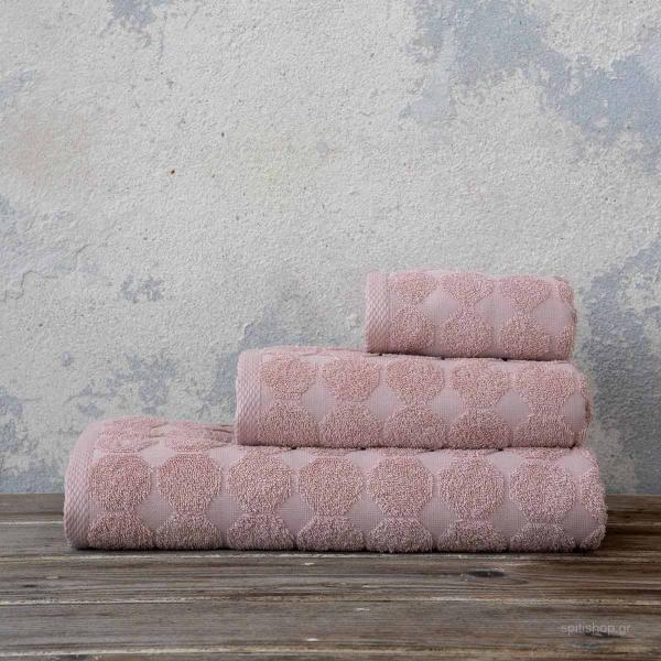 Πετσέτες Μπάνιου (Σετ 3τμχ) Nima Bath Liberty Powder Pink