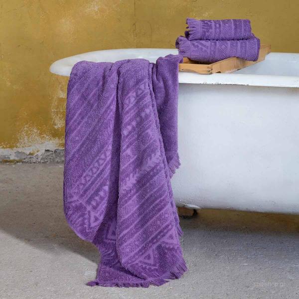 Πετσέτες Μπάνιου (Σετ 3τμχ) Nima Bath Mindelo Mauve
