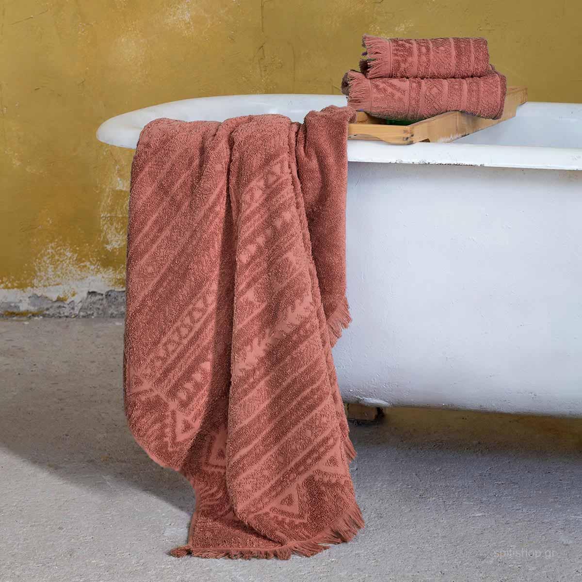 Πετσέτα Χεριών (30×50) Nima Bath Mindelo Terracotta