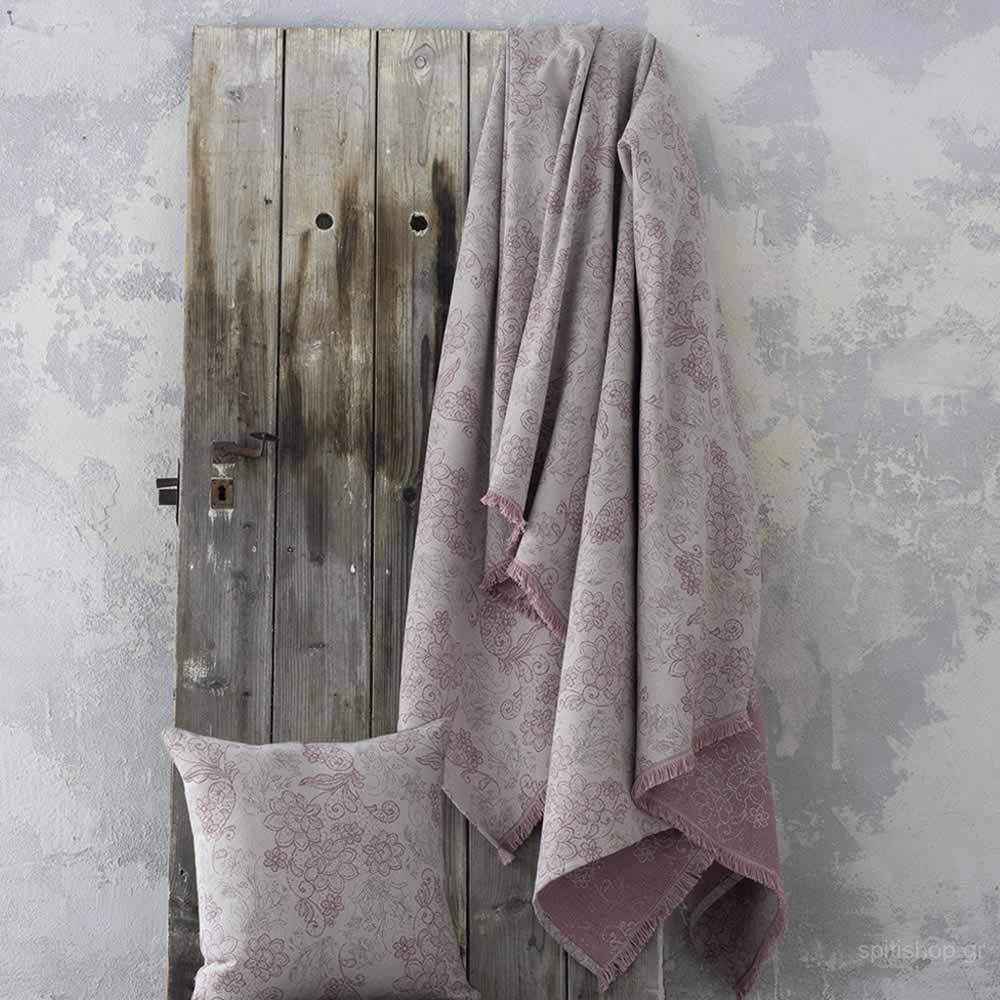 Ριχτάρι Πολυθρόνας (180×180) Nima Living Freesia Pink