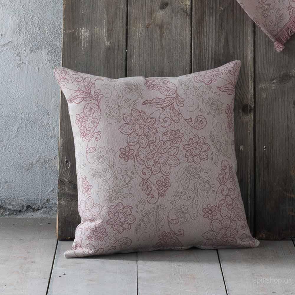Διακοσμητικό Μαξιλάρι (45×45) Nima Living Freesia Pink