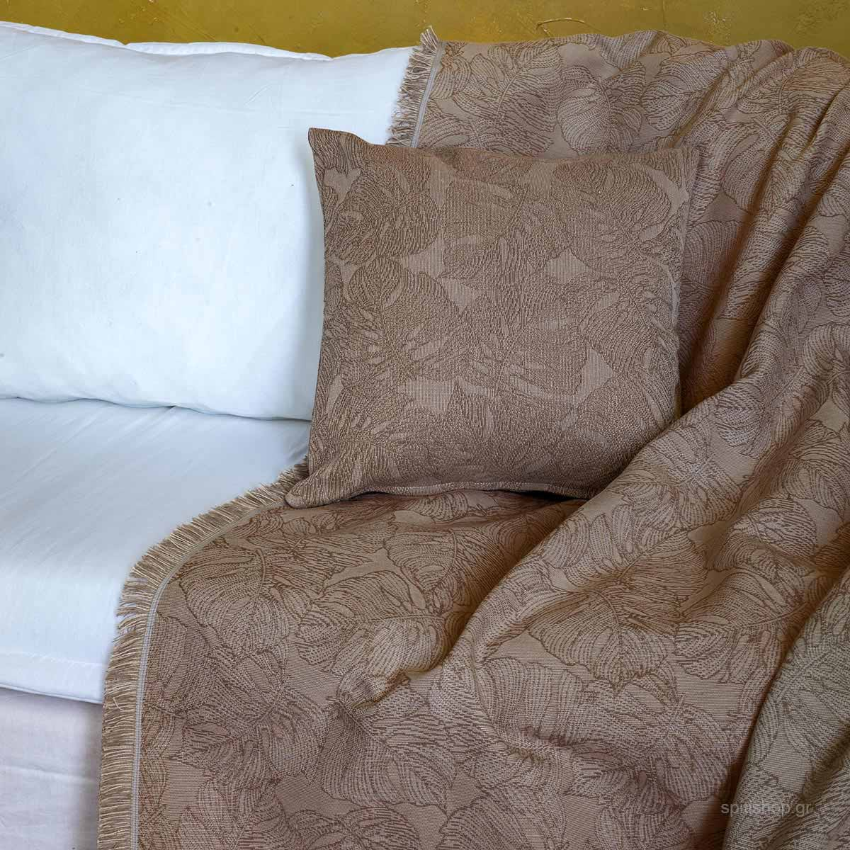 Διακοσμητικό Μαξιλάρι (45×45) Nima Living Avant Garde Taupe