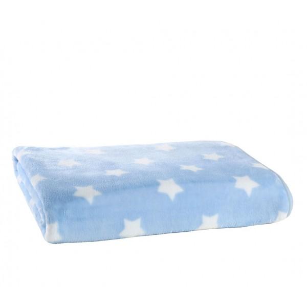 Κουβέρτα Βελουτέ Κούνιας Nef-Nef Baby Cosmo Blue