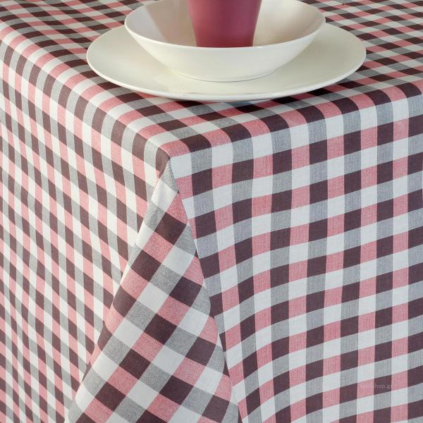 Τραπεζομάντηλο (140x140) Melinen Pic Nic Grey/Rose
