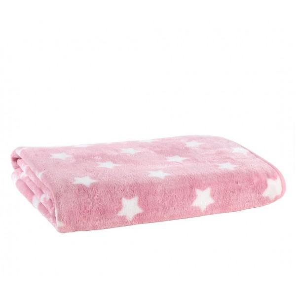 Κουβέρτα Βελουτέ Κούνιας Nef-Nef Baby Cosmo Pink