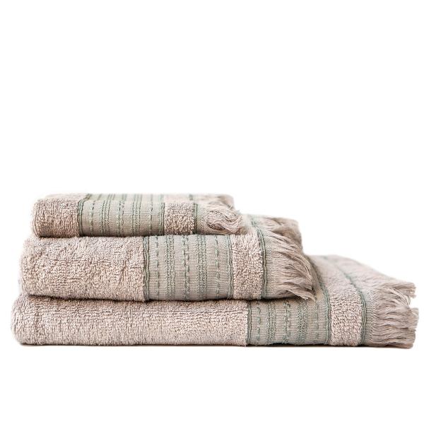Πετσέτες Μπάνιου (Σετ 3τμχ) Melinen Hammam Ice/Aqua