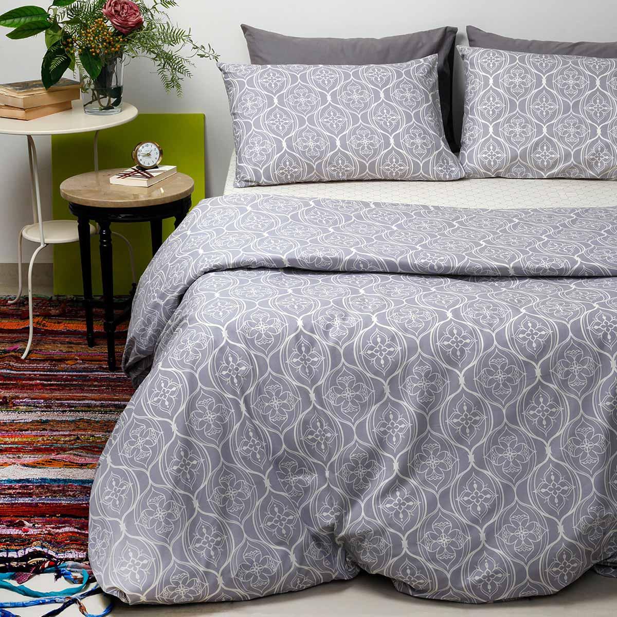 Σεντόνια Υπέρδιπλα (Σετ 240×260) Melinen Ultra Oriental Grey