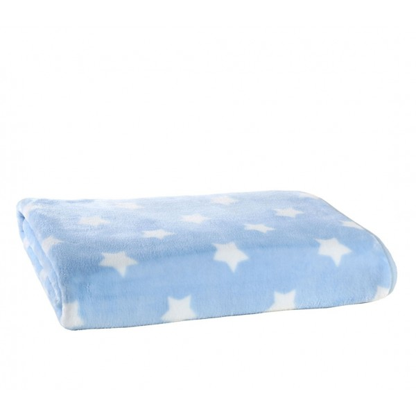 Κουβέρτα Βελουτέ Αγκαλιάς Nef-Nef Baby Cosmo Blue