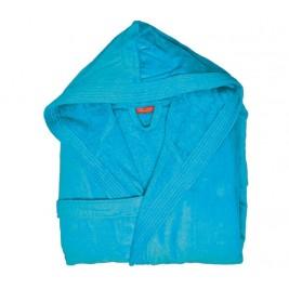 Μπουρνούζι Με Κουκούλα Nef-Nef Traffic Turquoise