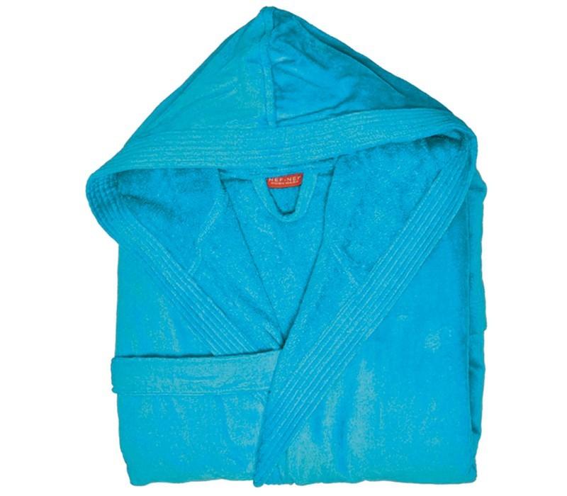 Μπουρνούζι Με Κουκούλα Nef-Nef Traffic Turquoise SMALL SMALL